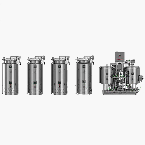 100L TURNKEY OIL HEATING BREWHOUSE WITH FERMENTERS