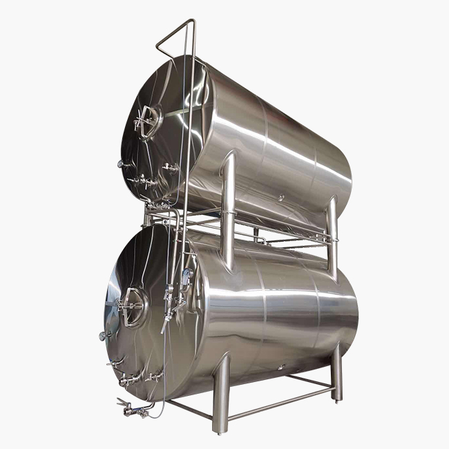 60BBL HORIZONTAL STACKED BRIGHT BEER SERVING TANK FULLY ISOLATED