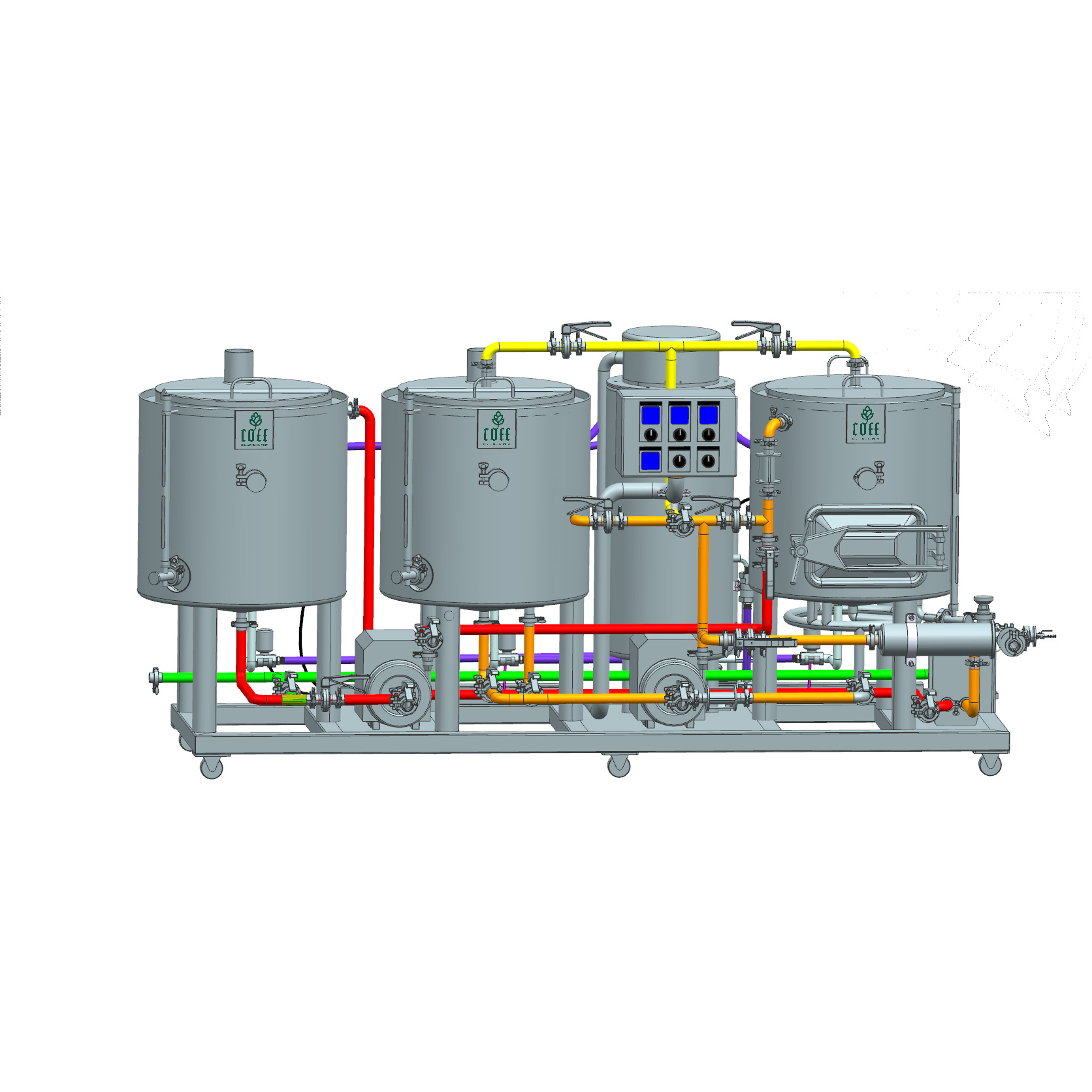 1BBL Oil Heating Brewhouse Integrated with HLT